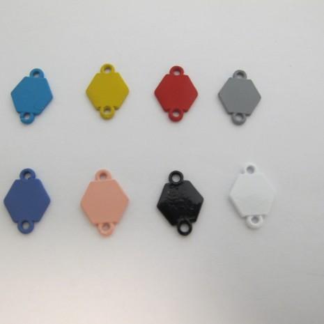 30 Intercalaires hexagone 16x12mm