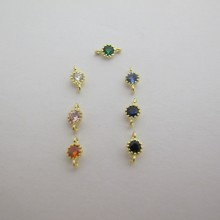 20 INTERCALAIRE  STRASS en 	Cubic Zirconia 8x4MM OR