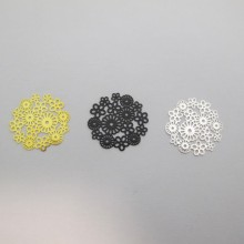 50 Laser Cut Flowers Stamps 23mm