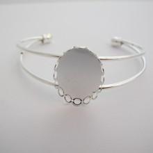 5 pieces Bracelet serti  pour cabochon ovale 25x18 mm