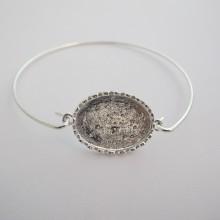 5 pieces Bracelet crochet  serti pour cabochon ovale 25x18 mm