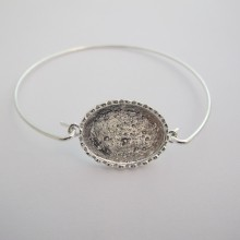 5 pieces Bracelet hook for oval cabochon 25x18 mm