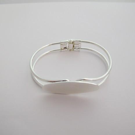 12 pieces Bracelet a plateau ovale 40x15 mm