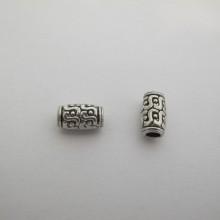 50 Metal Beads 12x7mm