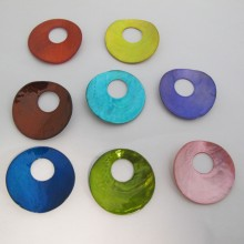 20 Mother of Pearl Sequins 38mm