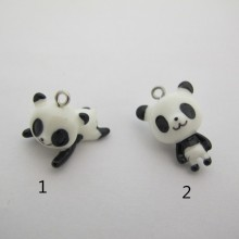 50 Breloques Panda  En Résine