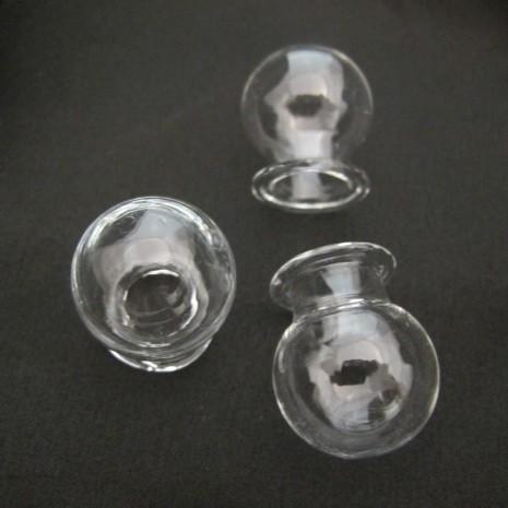 10 Boule En Verre Soufflé 30x25mm