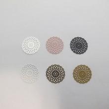 100 Round Laser Cut Stamps 15mm
