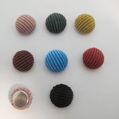 50 Cabochons Ronde Plat 15mm en tissu