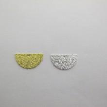 40 Sequins half-moon glitter 8x15mm