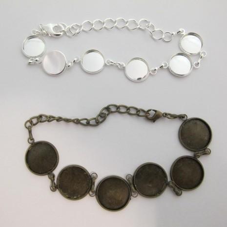 5 pieces Bracelet sertis pour cabochons