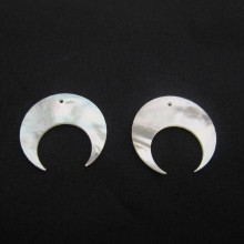 5 Pieces Mother of Pearl Horns 25MM