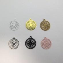 100 Round Laser Cut Stamps 14X12MM