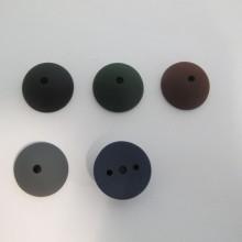 20 demi-perles en plastique mat 23x10mm