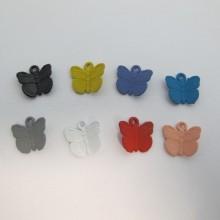 30 Pendentif Teinté papillon 13x12mm